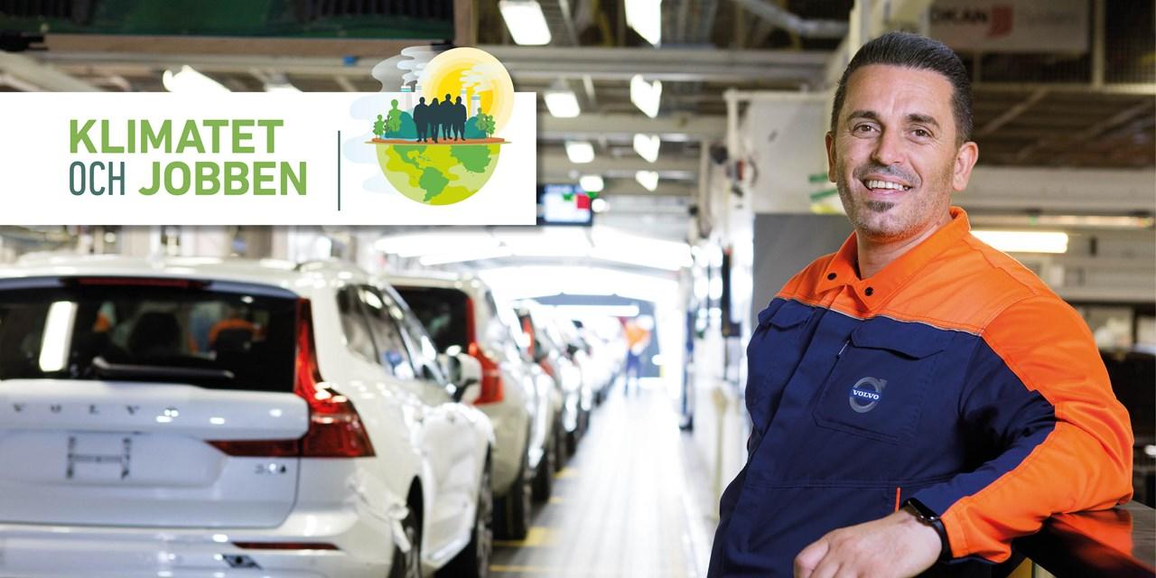Person i arbetskläder på arbetsplats inom biltillverkning.