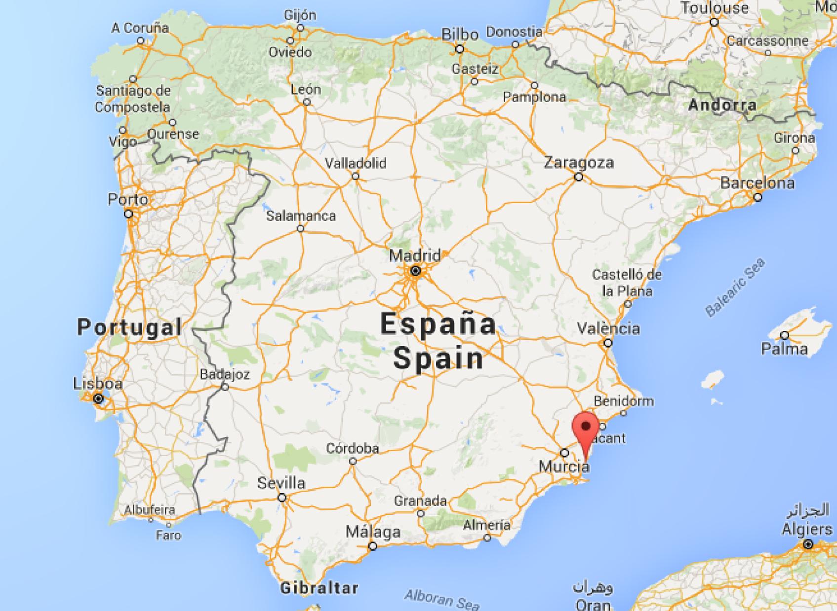 Karta Almeria Spanien Karta 2020